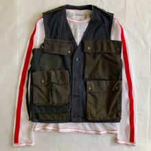 Load image into Gallery viewer, ss2001 Margiela Navy Reconstructed Hunting Vest - Size M