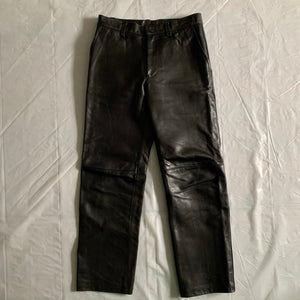 aw1999 Issey Miyake Black Leather Pants - Size M