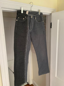 2000s CDGH Reconstructed Split Demin Pants - Size S