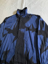 Load image into Gallery viewer, aw1991 Issey Miyake Brush Graphic High Neck Shirt - Size L