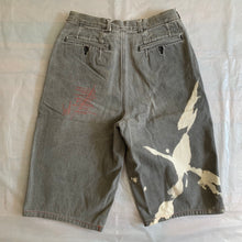 Load image into Gallery viewer, 1980s CDGH Bleach Stained Denim Shorts - Size M