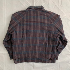 1980s CDGH Earth Tone Plaid Work Blouson - Size L