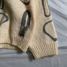 Load image into Gallery viewer, 1990s Armani Painted Beige Wool Sweater - Size M