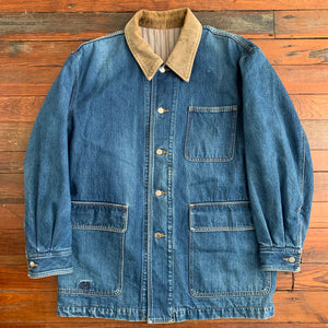 1980s CDGH Extended Heavy Denim Chore Jacket - Size L