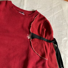 Load image into Gallery viewer, 2015 Kiko Kostadinov x Stussy Red Reconstructed Crewneck Sweater - Size M