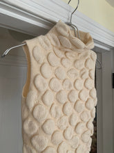 Load image into Gallery viewer, 1990s Armani Cream 3D Design Sleeveless Pullover Knit - Size S