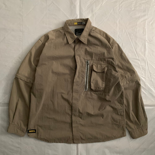 2000s Vintage Yak Pak Tactical Shirt with Removable Sleeves - Size L