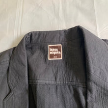 Load image into Gallery viewer, ss1983 Issey Miyake Charcoal Grey Textured Cotton Suit Set - Size L