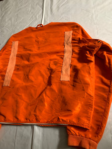 1990s Armani Orange Nylon Safety Work Jacket - Size XL