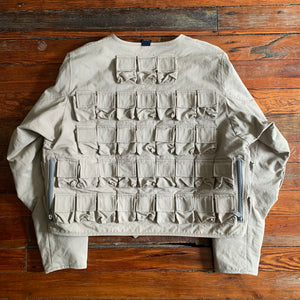 1998 General Research Parasite 74 Pocket Grey Hunting Jacket - Size L