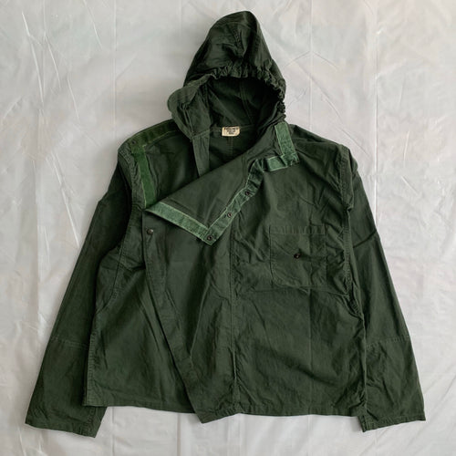 1980s Vintage French Sage Green Military Smock - Size XL