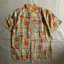 Load image into Gallery viewer, 1990s Armani Aloha Luggage Tag Rayon Shirt - Size M
