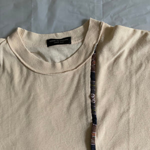 1991 CDGH+ Reversible Cream Embroidered Tee - Size S