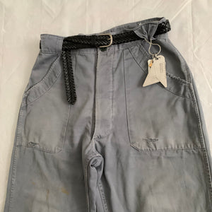 "1950s Vintage ""Air France"" Faded Mechanic Pants - Size M"