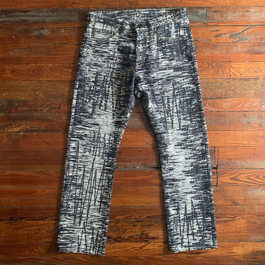 aw2010 Issey Miyake APOC Electric Graphic Denim - Size L