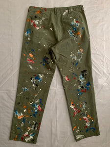 2011 CDGH Green Paint Splattered Work Pants - Size XL
