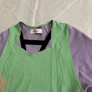 ss2019 Kiko Kostadinov Panneled Jersey Shirt with Large Split Hem - Size S