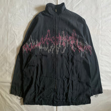 Load image into Gallery viewer, 1990s Yohji Yamamoto Pixelated Soundwave Graphic Zip-up Shirt - Size L