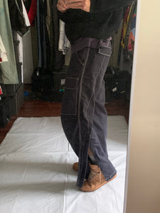 ss2007 Issey Miyake Faded Black Tactical Pants with Contrast Stitching - Size XL