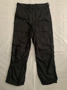 ss2007 Issey Miyake Textured Nylon Tactical Black Pants - Size L