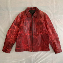Load image into Gallery viewer, aw2009 - Yohji Yamamoto x Justin Davis Uzi Pinup Red Leather Jacket - Size M