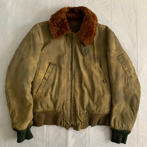1940s Vintage WW2 Distressed B-15 Flight Jacket - Size S