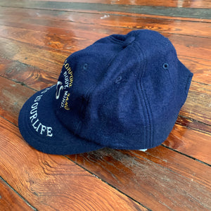 1990s Vintage Asics Textured Wool Hat - Size L