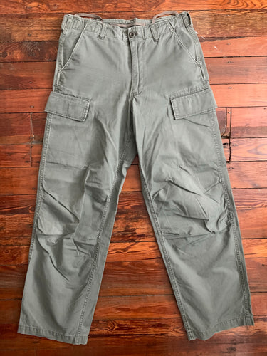 1999 General Research Faded Sage Ripstop Cargo Pants - Size M