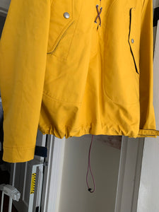 aw2005 Junya Watanabe Yellow Water Resistant Anorak with Bungee Closure - Size M