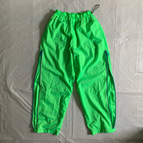 aw2000 Issey Miyake Electric Green Trackpants - Size L