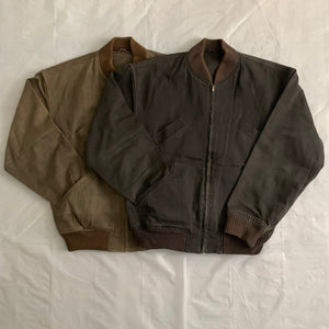 1980s CDGH Tan Bomber Jacket - Size L