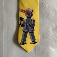 Load image into Gallery viewer, 2000s Yohji Yamamoto Robot Laser Eyes Tie - Size OS