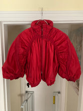 Load image into Gallery viewer, aw2007 Issey Miyake APOC Cropped Red Jacket with Pleats and Ribbing Details - Size S