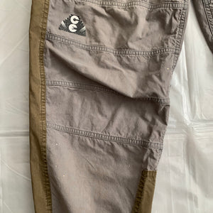 aw2016 Cav Empt Earth Tone Color Blocked Baggy Paneled Pants - Size M