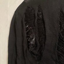 Load image into Gallery viewer, 1990s Yohji Yamamoto Destroyed Black Knitted Sweater - Size M