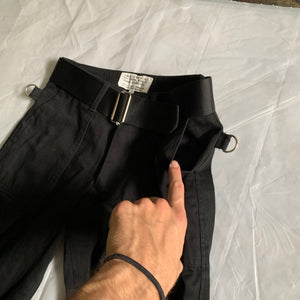 ss2002 General Research Cotton Satin Bondage Pants with Zippers - Size S