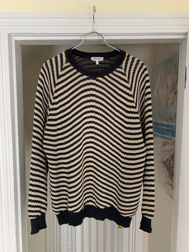 1990s Armani Wavy Cotton Knit - Size L