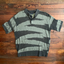 Load image into Gallery viewer, 1990s Issey Miyake Earth Tone Woven Graphic Polo - Size M