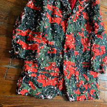 Load image into Gallery viewer, ss2019 CDGH+ Red Tulle Embroidered Camouflage Blazer - Size M