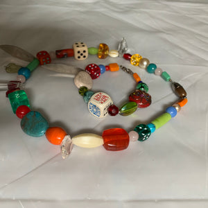 2000s CDG Arts and Crafts Necklace and Bracelet - Size OS