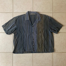 Load image into Gallery viewer, 1980s Issey Miyake Cropped Multi-toned Linen Weave Shirt - Size M