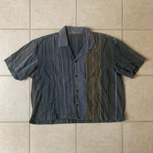 1980s Issey Miyake Cropped Multi-toned Linen Weave Shirt - Size M