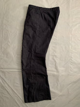 Load image into Gallery viewer, 1990s Armani Indigo Cotton Poly Blend Flare Trousers - Size M