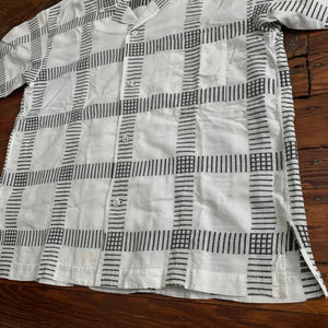 1980s Issey Miyake Checkered Linen Shirt - Size OS