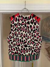 Load image into Gallery viewer, ss2018 CDGH+ Red Leopard Print Knitted Vest - Size M