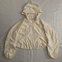Load image into Gallery viewer, 2000s Issey Miyake Off-white Translucent Cropped Technical Jacket with Packable Hood - Size M