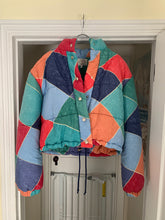 Load image into Gallery viewer, 1990s Armani Mutli-Colored Cropped Puffer Jacket - Size M