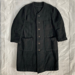 1990s CDGH+ Object Dyed Boiled Wool Coat - Size OS