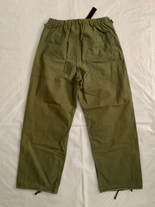 1990s Final Home Military Green Survival Zipper Pants - Size M