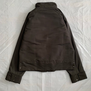 2000s Armani High Neck Cropped Panelled Jacket - Size L